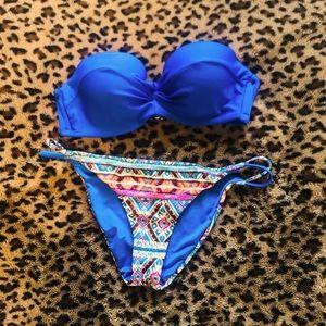 Tribal Print Sequined Bikini